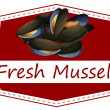 Fresh mussels — Stock Vector #51672895
