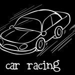 Постер, плакат: A car racing