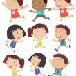 Kids running — Stock Vector #51679575