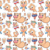 Seamless pigs — Stock Vector