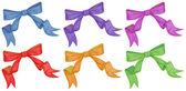Colourful bows — Stock Vector