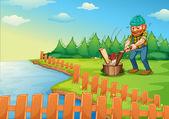 Lumberjack  — Stock Vector