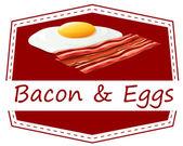 Bacon and eggs — Stock Vector