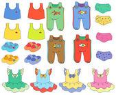 Children clothes — Stock Vector