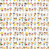 Seamless design of a group of people — Stock Vector