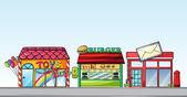 различные магазины — Cтоковый вектор