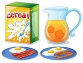 Breakfast foods — Stock Vector
