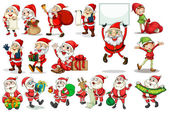 Santa actions — Stock Vector