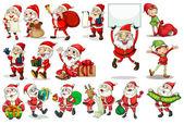 Santa actions — Stock Vector