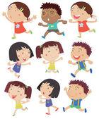 Kids running — Stock Vector