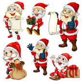 Santa set — Stock Vector