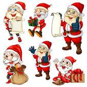 Santa set — Stock Vector