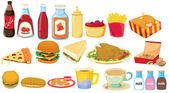 Snack foods — Stock Vector