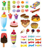 不同糖果 — 图库矢量图片