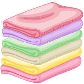 Stapel handtücher — Stockvektor