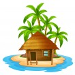 A small house in the island — Stock Vector #51680053