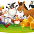 Farm animals — Stock Vector #51680883