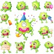 ������, ������: Set of green monsters