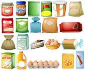 Set of foods — Stock Vector