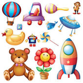 Set of different toys — Stock Vector