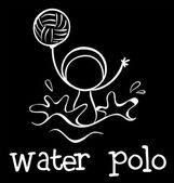 A water polo sports — Stock vektor