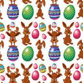 An Easter seamless design — Stock Vector