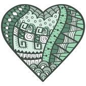 Zamotané srdce — Stock vektor