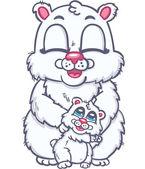 Happy family of polar bears — Stock Vector