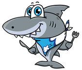 Cute cartoon shark — Stock Vector