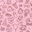 Baby girl pattern — Vector de stock #25695709