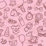baby meisje patroon — Stockvector