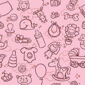 Baby girl pattern — Stock Vector