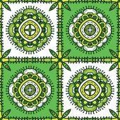 Green ethnicity pattern — Stockvektor