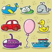 First set of toys — Stock Vector