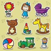 Second set of toys — Stock Vector