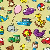 Toys seamless pattern. — Stock Vector
