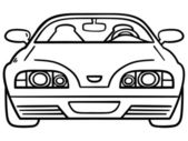 Car for coloring book — Stock Vector