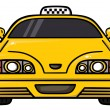 Stock Vector: Yellow cab
