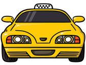 Yellow cab — Stock Vector