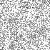 Outline of floral pattern — Stock Vector