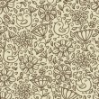 Vintage floral pattern — Stock Vector