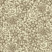 Vintage floral pattern — Stock Vector