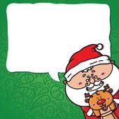 Funny Santa and deer. — Stock Vector