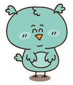 Baby boy owl — Stock Vector