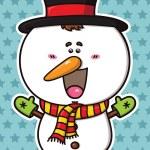 Funny Christmas Snowman. — Stock Vector #31994491