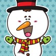Funny  Christmas Snowman. — Stock Vector