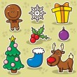 First set of Christmas icons. — Stock Vector #32545651
