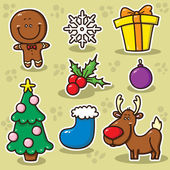 First set of Christmas icons. — Stock Vector