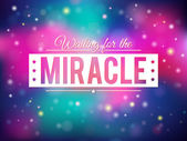 Miracle background — Stock Vector