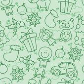 Cartoon christmas pattern — Stock Vector